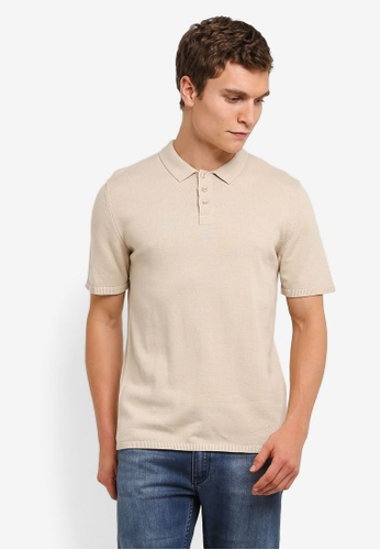 ZALORA beige Wide Sleeve Polo Shirt 74280ZZF58E200GS_1