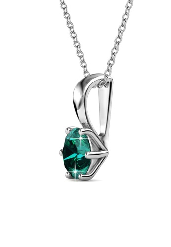 Her Jewellery green Her Jewellery Birth Stone Pendant (May) embellished with Crystals from Swarovski 8E223AC0FB7301GS_1