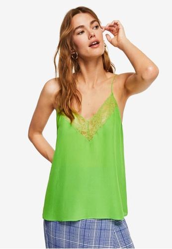 Mango yellow Lace Appliqué Top 497EEAAFB48E30GS_1