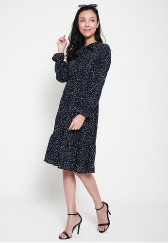 Sophialuv multi Disco Fever Long Sleeved Dress in Dots BD96FAA45052BEGS_1