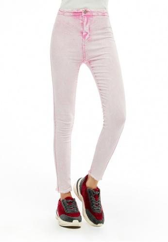 London Rag pink Acid Wash Frayed Hem Jeans A6FA5AA2CF3863GS_1