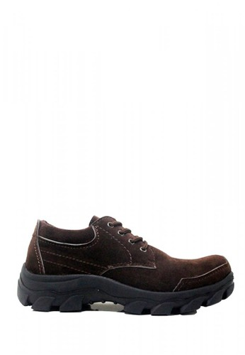 Cut Engineer brown Cut Engineer New Safety Classic Low Boots Suede Brown CU226SH10GJXID_1