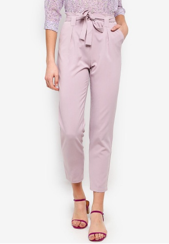 FORCAST pink Frankie Tapered Trousers 1DC8BAA307B81AGS_1