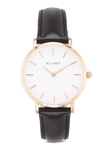 Klarf black Classic Watch With Leather Bracelet 5EF46AC4208553GS_1