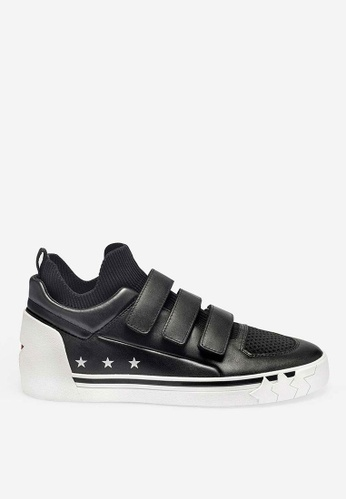 ASH black Neptune - Black Strap High-Top Sneakers 823D3SH399E8EDGS_1