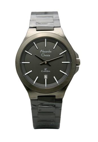 Alexandre Christie black Alexandre Christie 8634 - Jam Tangan Pria - Stainless Steel - Hitam 63868AC7E94CA1GS_1