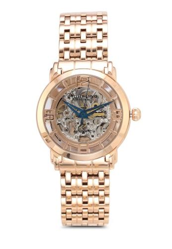 Stuhrling Original gold Polished Link Bracelet Watch 8C601ACBE0F518GS_1