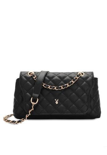 PLAYBOY BUNNY black Women's Sling Bag / Shoulder Bag / Crossbody Bag 01E2CACD57F166GS_1