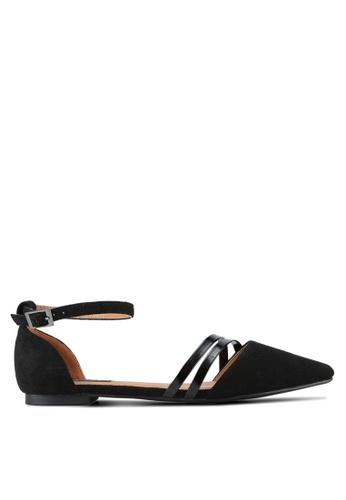 ZALORA black Pointed D'Orsay Flats 1407DSH253E5FEGS_1