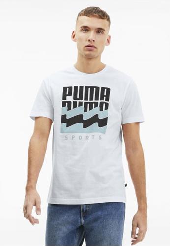 puma white Summer Graphic Men's Tee 0C4D6AA4779445GS_1