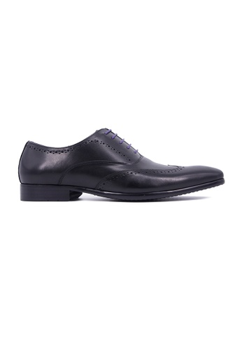 Rad Russel black Rad Russel Lace Up Oxford With WingTip - Black 65155SH99D5321GS_1