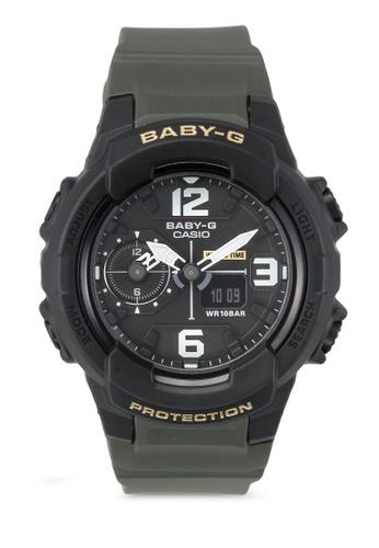 4d5c3a27cfe Casio green Casio G-Shock Resin Strap Watch BGA-230-3B-NL