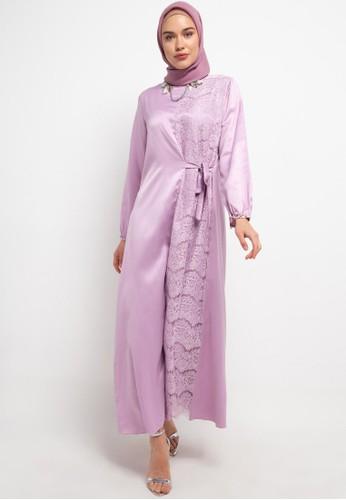 LUIRE by Raden Sirait purple MS Gamis Kombinasi SB 111BBAA54FD3D9GS_1