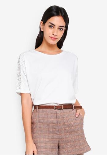 ESPRIT white Short Sleeve T-Shirt 06156AA93552B2GS_1