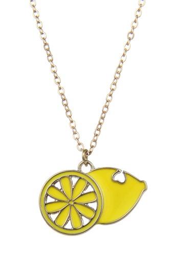 My Flash Trash yellow HAPPY FRIDAY Lemon  Necklace 4DA55AC8930FB0GS_1