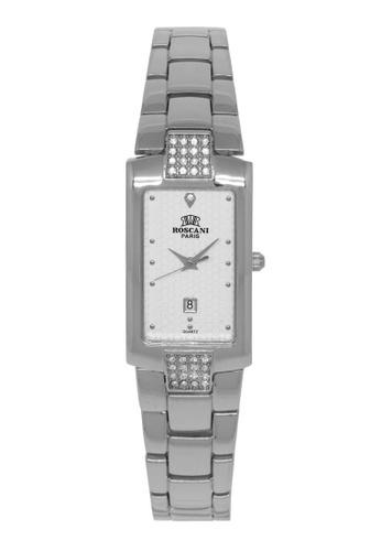 Roscani silver Roscani Sandra B71 (Curved Crystal) Stainless Steel White Bracelet Women Watch 76186AC290722AGS_1