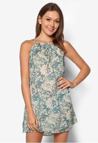 花卉印花寬擺洋裝zalora 鞋評價, 服飾, 洋裝