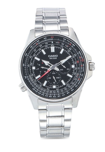Casio silver Casio MTP-SW320D-1AVDF Watch 34468AC34E396EGS_1