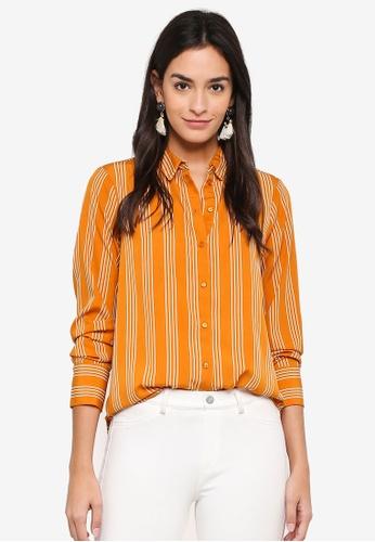 Vero Moda white and orange Nicky Shirt 5DF55AA23D8573GS_1