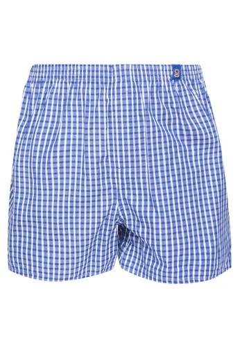 Sunjoy blue Checkered Boxer Shorts 1EC88USAC8CFC1GS_1