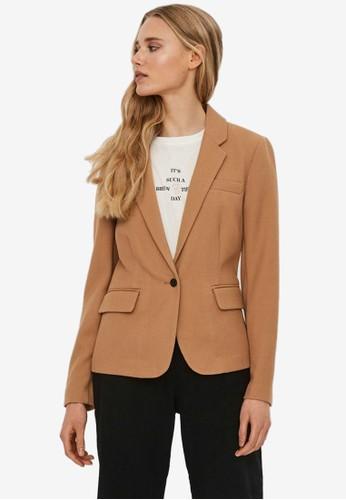 Vero Moda brown Long Sleeved Blazer 23C77AA9C56D15GS_1