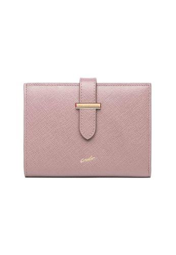 Crudo Leather Craft pink Dolce Vita Medium Strap Leather Wallet - Saffiano Pink 2B839AC7B2CC8AGS_1