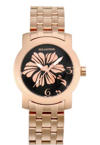 EGLANTINE pink EGLANTINE® Bauhinia Ladies Pink Gold Plated Steel Quartz Watch on Gold Plated Bracelet 76AE6AC042B42CGS_1