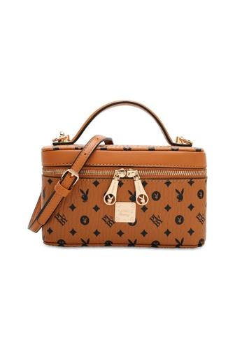 PLAYBOY BUNNY brown Women's Hand Bag / Top Handle Bag / Shoulder Bag B6935AC5F5D075GS_1