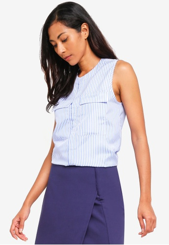 ZALORA BASICS blue Basic Oversized Sleeveless Top 9AB02AA0ACAA96GS_1