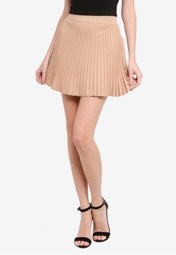 Mink Pink beige Knit Mini Skirt 3211EAA10EC01BGS_1