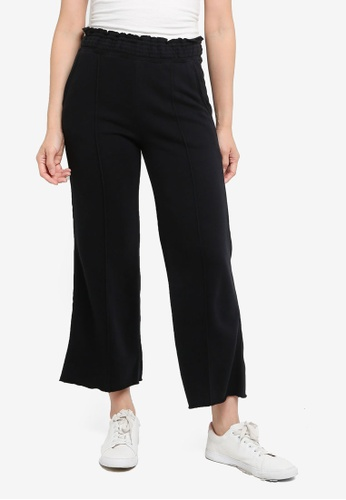 Abercrombie & Fitch black High Rise Wide Leg Pants EBBD3AAEA10D43GS_1