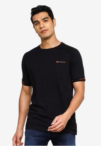 Jack & Jones black Finn Short Sleeves Tee 152BEAAC73A79AGS_1