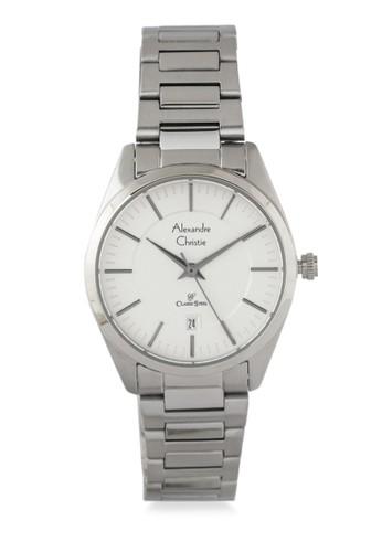 Alexandre Christie silver Alexandre Christie Jam Tangan Wanita - Silver White - Stainless Steel - 8579 LDBSSSL A2BE3AC31F5FBCGS_1