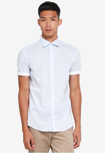ESPRIT white Woven Short Sleeve Shirt 810A8AA1B5AE94GS_1
