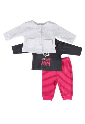Babybol grey and pink Baby 3 Piece Set ABC51KAD4ED3C6GS_1