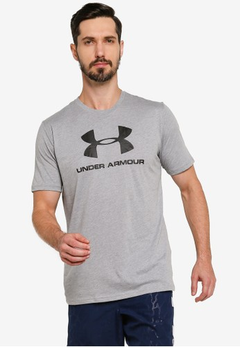 Under Armour grey Sportstyle Logo Short Sleeve Tee A3B30AAC6FF98CGS_1