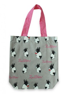 Japanese Style Bullton Dog Combo Color Strap A4 Canvas Tote Bag