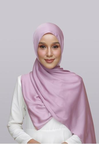 Lady Qomash pink and purple Batcha Eyelash Shawl in Taffie C4D64AAEACF617GS_1