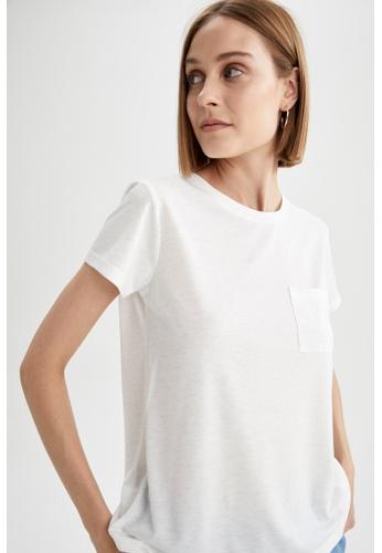 DeFacto 米褐色 Regular Fit Short Sleeve T-Shirt F93B0AA870EACCGS_1