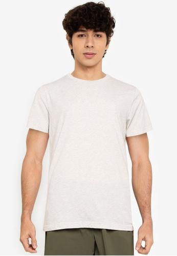 Abercrombie & Fitch grey Plain Crew Neck T-Shirt 8D4B5AA353630CGS_1