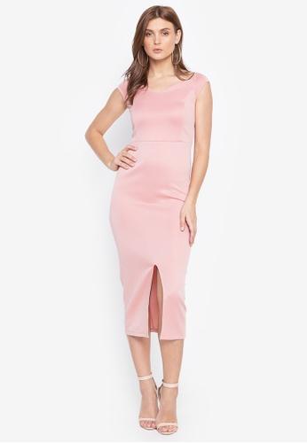 Daria pink Grace Cocktail Midi Dress A1338AA7B2853CGS_1