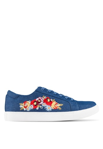 Kenneth Cole New York blue and multi KAM-ERA 5 - Embroidery Sneakers  KE615SH0RMMPMY_1