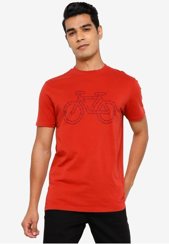 Springfield orange Bike T-Shirt D6160AAE35FA6FGS_1