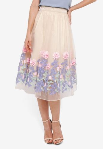 Megane beige Red Romance Becky Flora Skirt 6E1AEAA48B0842GS_1