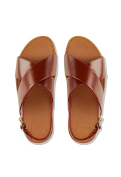 0ca9f02f8 Fitflop Lulu Cross Back-Strap Sandals-Leather RM 399.00. Sizes 5 6 7 8 9