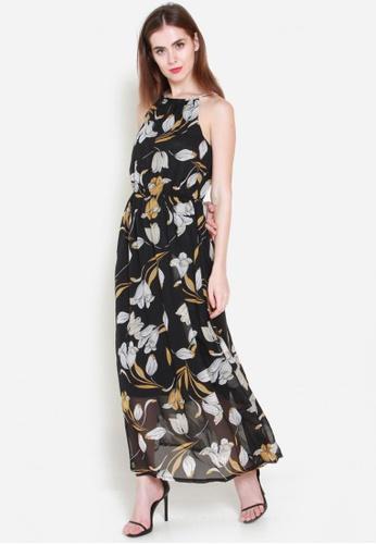 Sophialuv black Golden Blooms Maxi Dress 3D4F1AAC026A1BGS_1