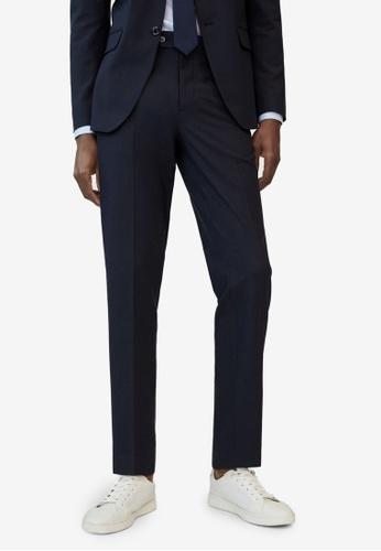 MANGO Man blue Slim Fit Wool Suit Trousers 48CDFAA342C5C4GS_1
