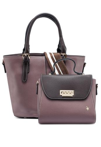 Swiss Polo pink 2 In 1 Ladies Handbag E6F53AC3BF46F3GS_1