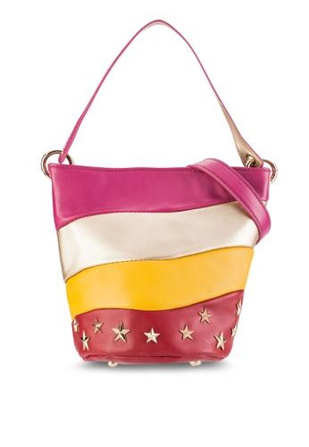 Something Borrowed multi Starry Wavy Bucket Bag 9ECABAC6FD97E0GS_1