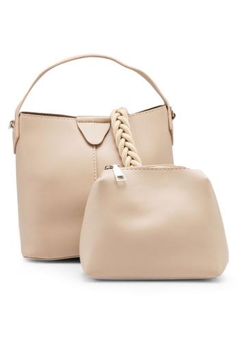 NATALIE & PEPPER beige Anne Top Handle Bag CE57CAC9B1B857GS_1